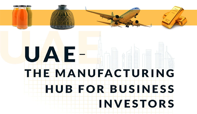 Uae: the Manufacturing Hub for Business Investors #infographic