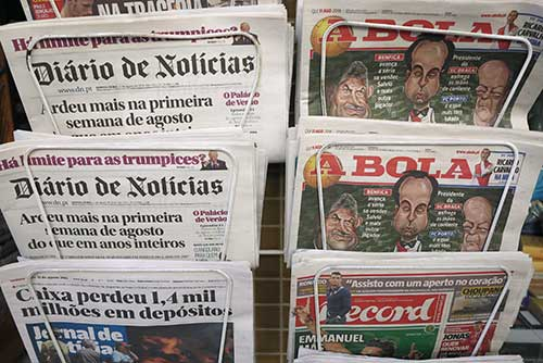 Newspapers in Portugal.