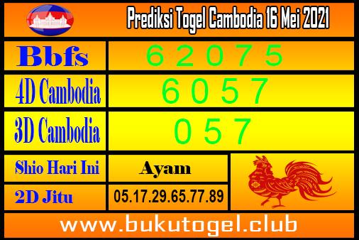 Prediksi Togel Cambodia 16 Mei 2021