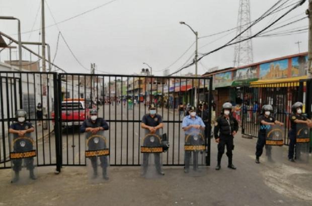 Trujillo: peatonalizan alrededores del mercado mayorista para evitar contagios de covid-19