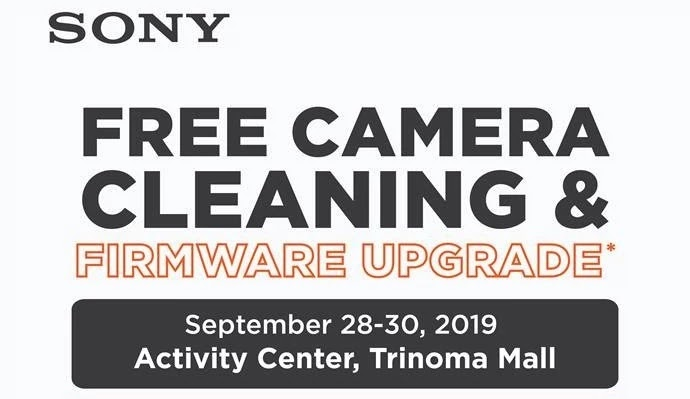 Sony FREE camera cleaning and firmware upgrade
