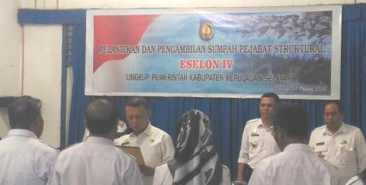 Sekda Lantik Pejabat Struktural, Eselon IV Pemkab Kepulauan Selayar
