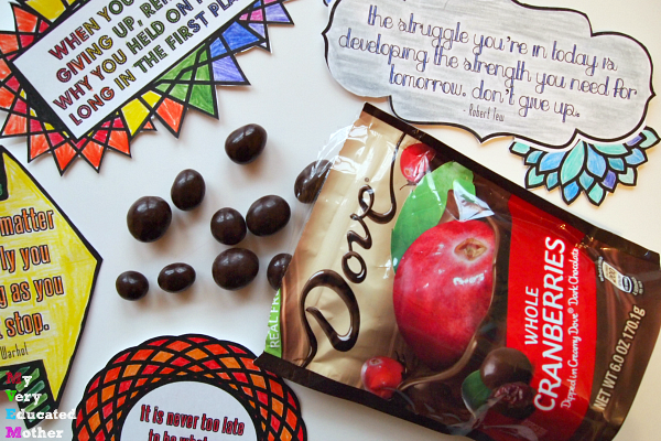 How do you find inspiration to stay motivated? I've been coloring and indulging in DOVE Chocolates Fruit & Nuts. #LoveDoveFruits #ad