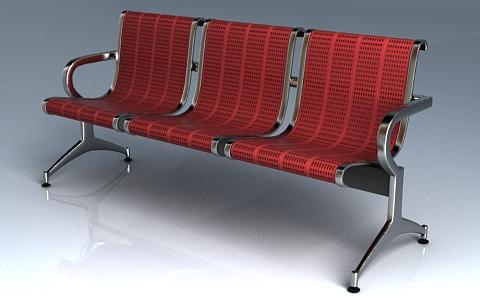 3d model waiting seat