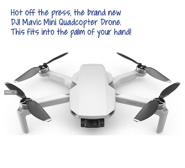 Newly announced DJI Mavic Mini drone. We would like this as a present!