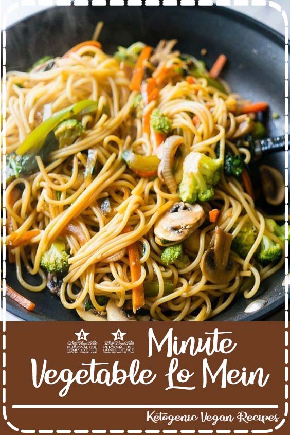 ll love this super quick and easy weeknight dinner 15 Minute Vegetable Lo Mein