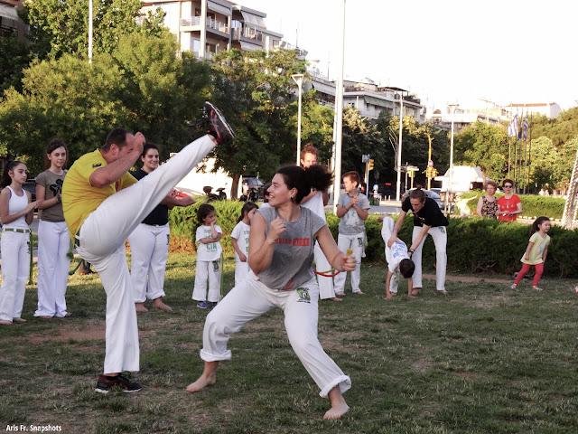 Επίδειξη Capoeira Aikido και Ninjutsu στην Τούμπα