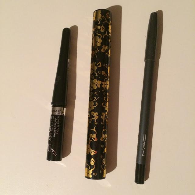Rimmel Eyeliner, Silke Mascara, MAC Eyeliner | Almost Posh