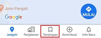 ikon menu tersimpan