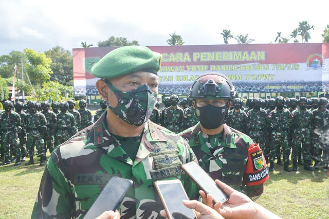 Satgas Pamrahwan Korem 172 PWY Diisi 500 Prajurit TNI Oraganik