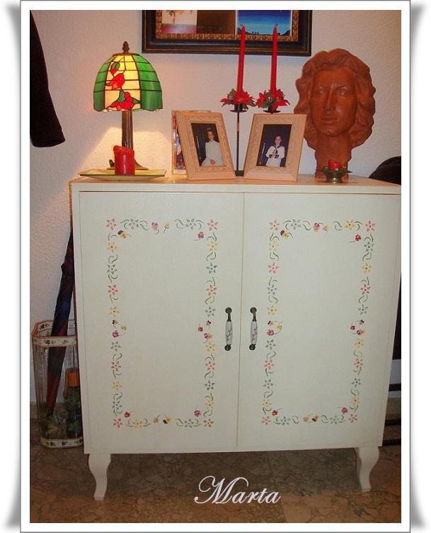 Las manualidades de marta mesa con decoupage - Manualidades con muebles ...