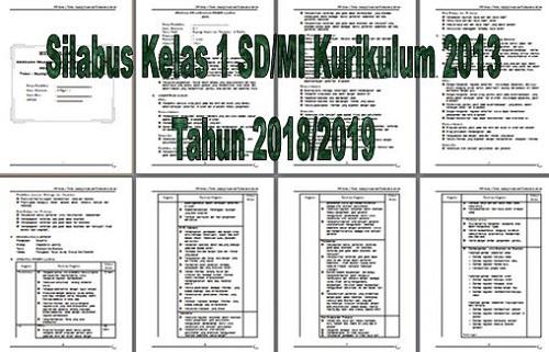 Silabus Kelas 1 SD/MI Kurikulum 2013 Tahun 2018/2019