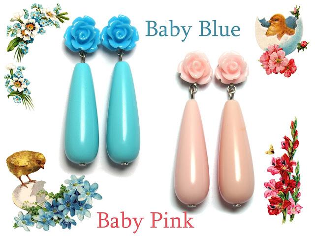 Oorbellen Baby Blue or Baby Pink