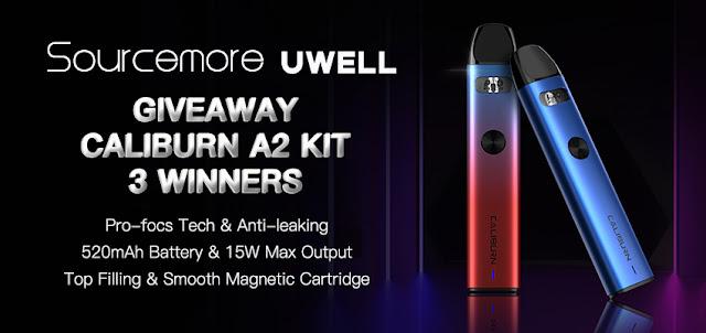 Win 3 free Uwell Caliburn A2 Pod Kit here