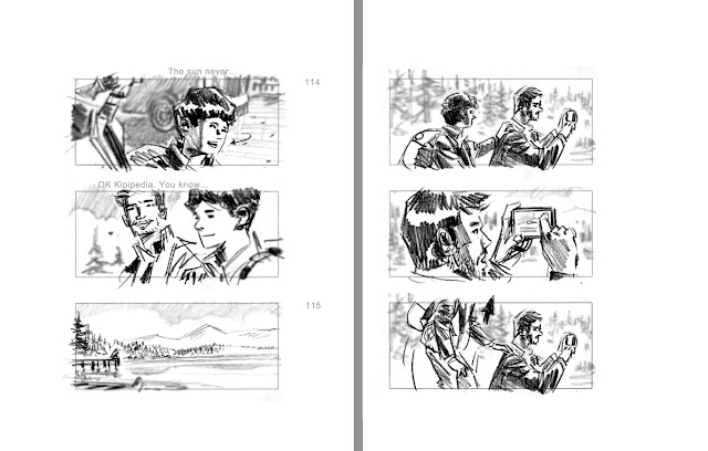 Kip and the Ice Man #storyboard