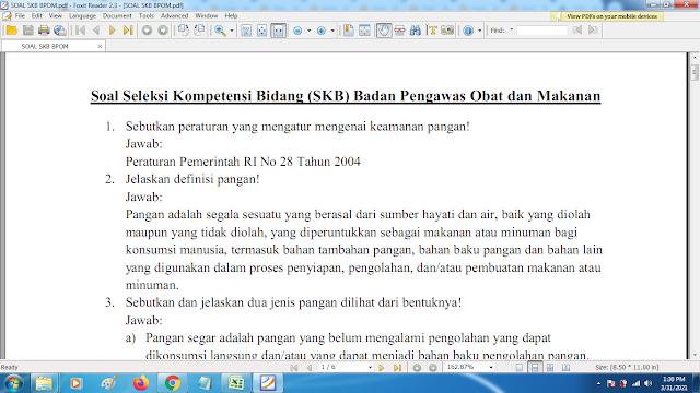 Download contoh soal pppk skb bpom dan kunci jawaban