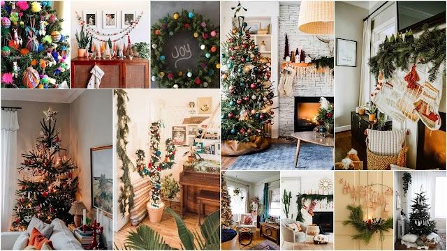 Χριστουγεννιάτικες διακοσμήσεις σε Boho στυλ