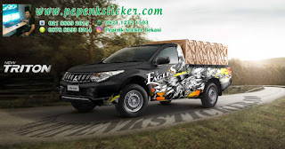 Mobil,Decal,Cutting Sticker,Cutting Sticker Bekasi,Mitsubishi,Triton,jakarta,Bekasi,Hilux,Toyota Hilux,