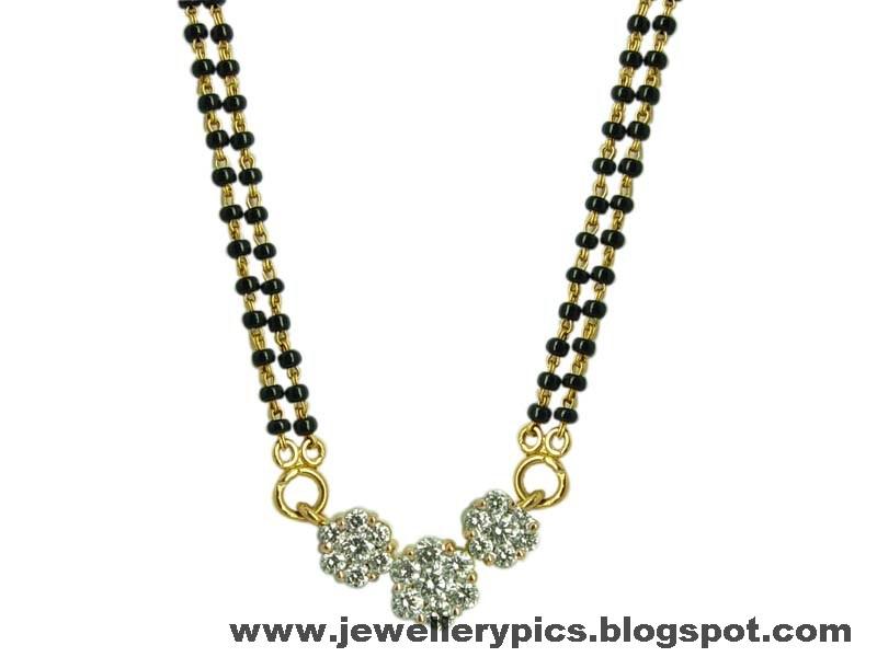 Simple Blackbead Chain Lastest Designs Nallapusalu