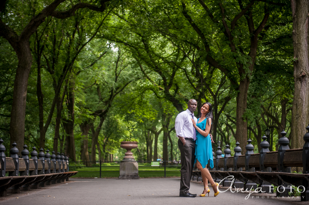 Central Park Wedding Photography: AnyaFoto: Central Park Engagement, Angela & Rowland, NYC