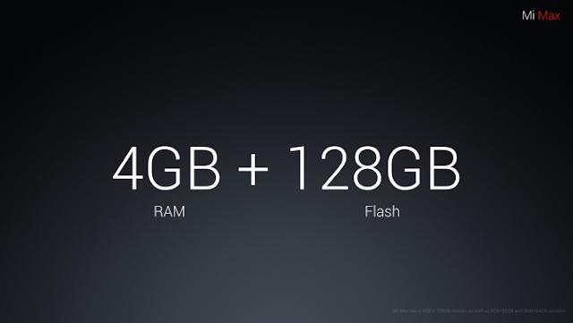 Xiaomi Mi Max Storage Options