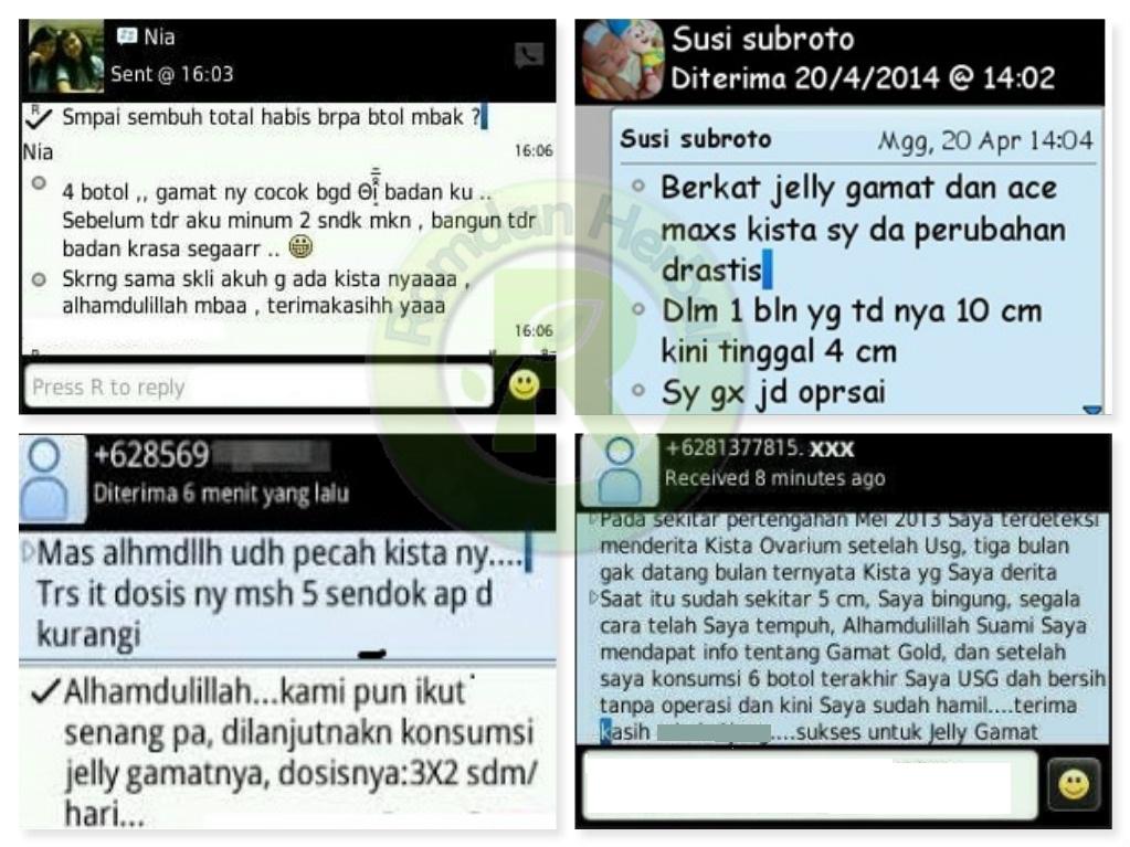 Testimoni Qnc Jelly Gamat Kista