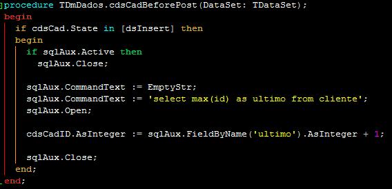 delphi sql datamodule