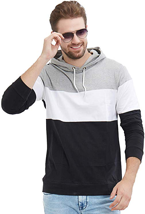 Men's Full Sleeve Hooded T-Shirt