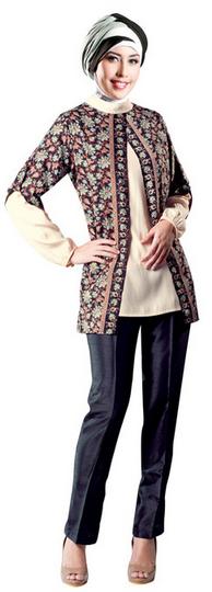 47 Model Baju Batik Muslim Untuk Remaja Terbaru 2018