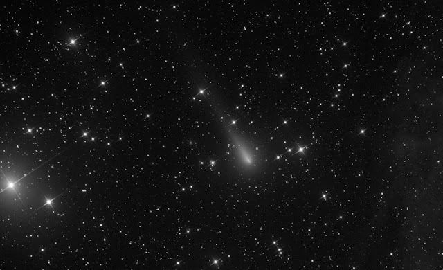 "Comet C/2019 Y4 ATLAS imaged on the 16"" f/3.7 astrograph reflector, ATEO-1 on the evening of April 10, 2020, by Muir Evenden. Processing by Utkarsh Mishra and Michael Petrasko."