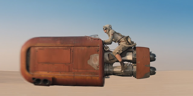 What was Rey's hover bike called?