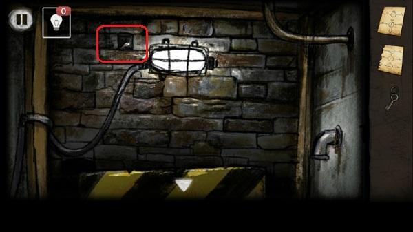 находим ключ в кирпичной стене в игре выход из заброшенной шахты