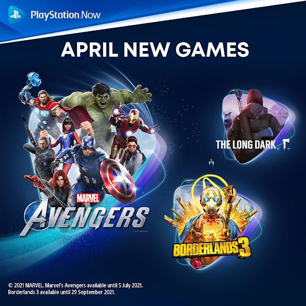 Marvel's Avengers, Borderlands 3 e The Long Dark chegam este mês ao catálogo do PlayStation™Now