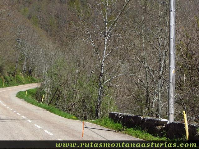 Sendero desde la carretera al pueblo de Tarna