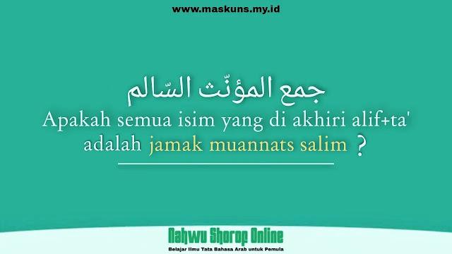 Contoh Jamak Muannats Salim