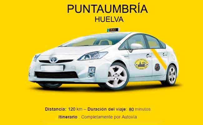 Precio Taxi Sevilla-Punta Umbría