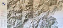 Map describing mountains and hiking around Bormio.