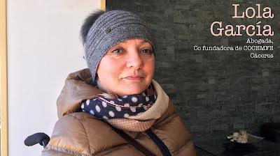 """Lola García. Abogada, co fundadora de COCEMFE Cáceres. """"Capacitada""""."""