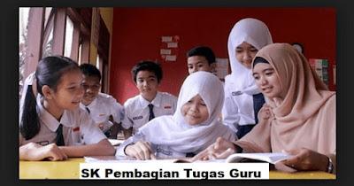 SK Pembagian Tugas Guru