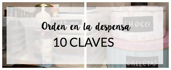 10 Claves para poner orden en la despensa
