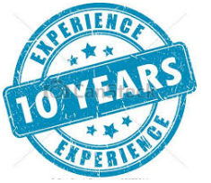 10 YEARS EXSIST & EXPERIENCE