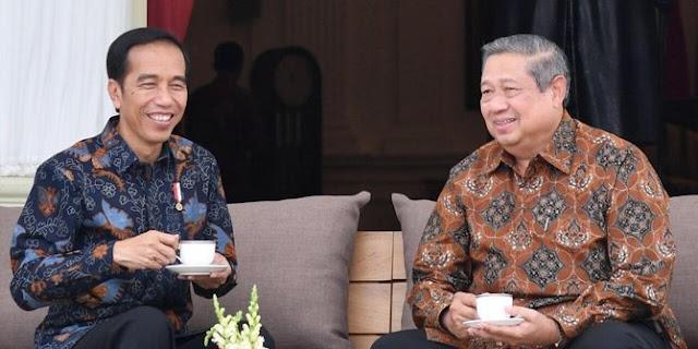 Presiden Joko Widodo dan Susilo Bambang Yudhoyono