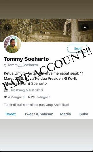 Bandingkan Jokowi dengan Soeharto, Akun Fake Tommy: Jokowi Tak Ada Prestasi di Bidang Pertanian