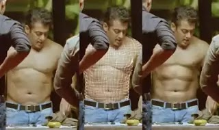Does Salman Khan have six-pack abs, or is it VFX/CGI?