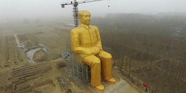 Diprotes Netizen Patung Raksasa Emas Mao Zedong di China Dirobohkan, Patung Jendral China di Tuban?