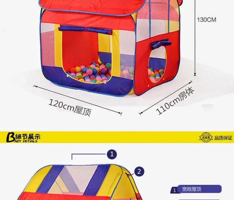 Rumah Khemah Untuk anak kecil - kedai online