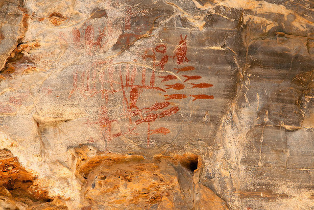 Pinturas Rupestres em Iraquara. (Foto: Coen Wubbels)