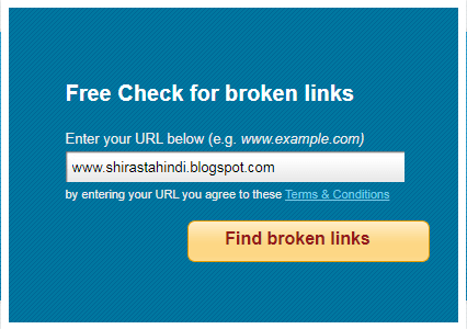 blogger me broken links kaise check kre
