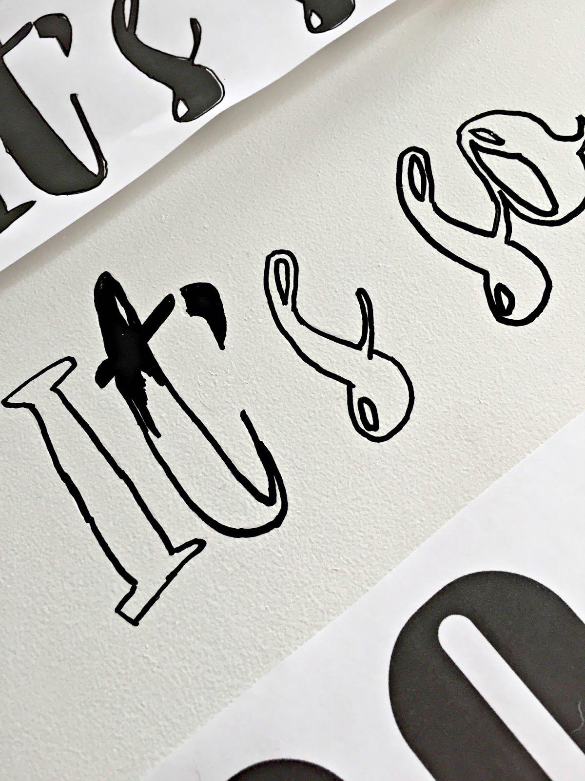 Easy lettering technique for art