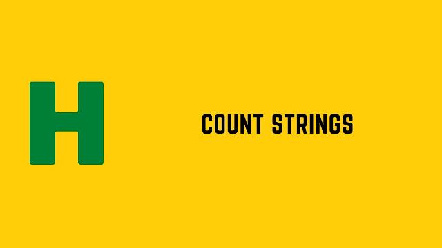 HackerRank Count Strings problem solution